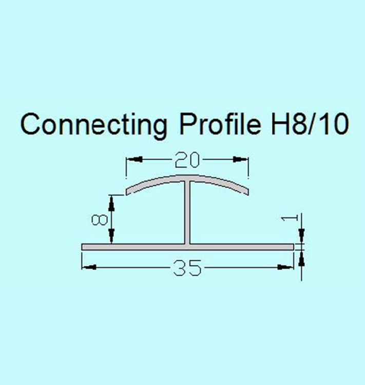 PlasTec standard Connecting profile H8/10