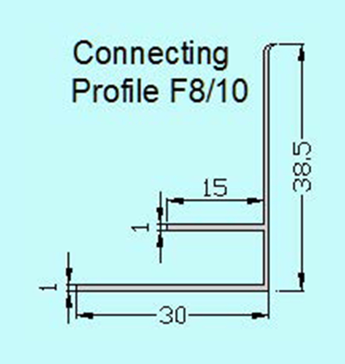 PlasTec standard Connecting profile F8/10