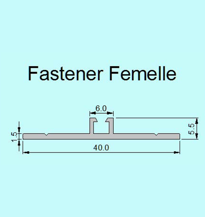 PlasTec standard Connecting profile Fastener female